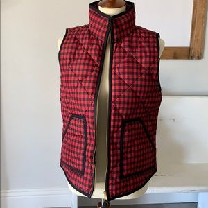 J.Crew printed quilted puffed vest